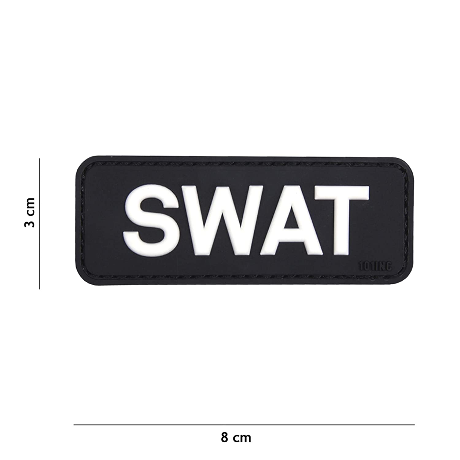 Tactical Attack SWAT schwarz #18065 Softair Sniper PVC Patch Logo Klett inkl gegenseite zum aufn/ähen Paintball Airsoft Abzeichen Fun Outdoor Freizeit