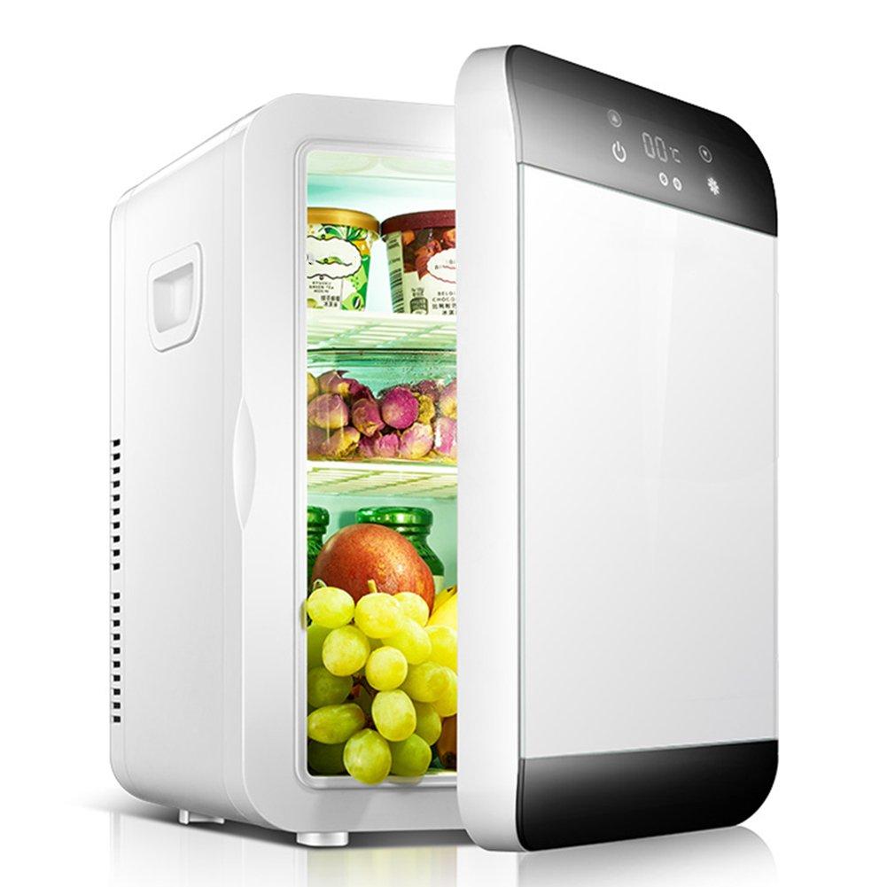 LIQICAI 20L Elektrische Kühlbox 12V 240V Intelligente Temperaturanzeige Der Digitalen Anzeige (Farbe : Weiß)