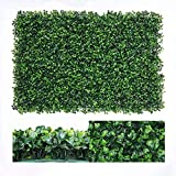 Nisorpa 12 Pack Boxwood Hedge Artificial Plants Mat Privacy Fence Screen Faux Greenery Wall Panels Decorative Suitable for Outdoor Indoor Garden Patio Backyard UV Protection 31 Square Feet
