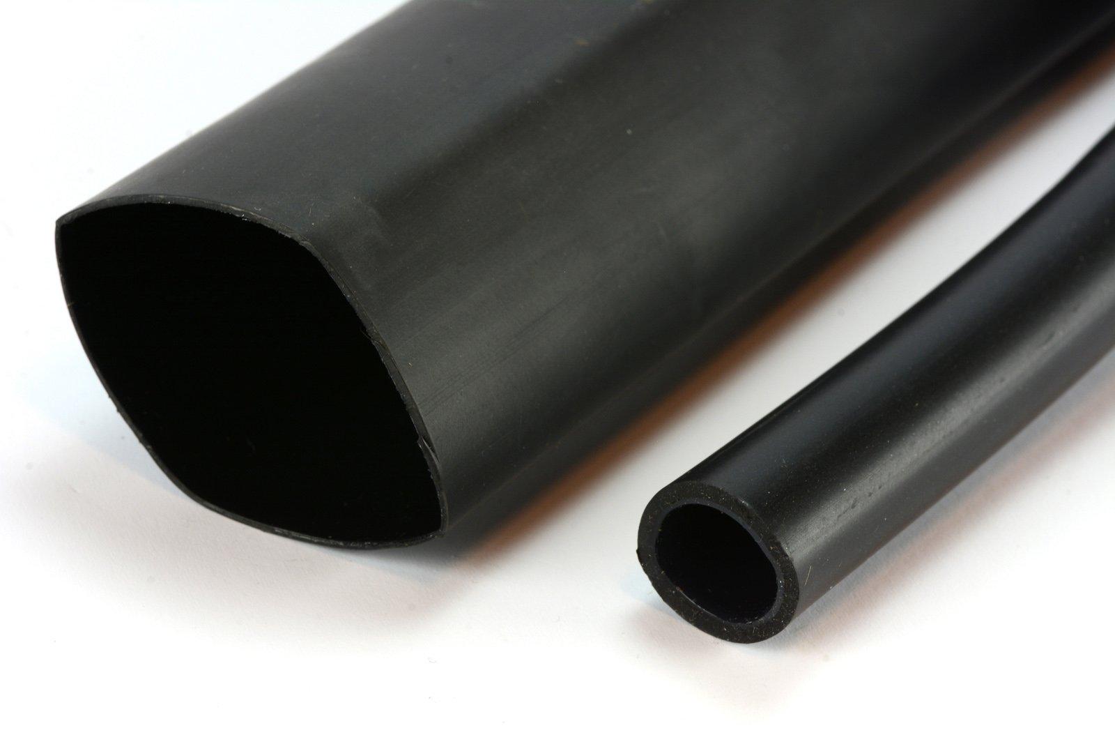 5 Lot TEMCo 1.5'' Marine Heat Shrink Tube 3:1 Adhesive Glue Lined 4 ft Black