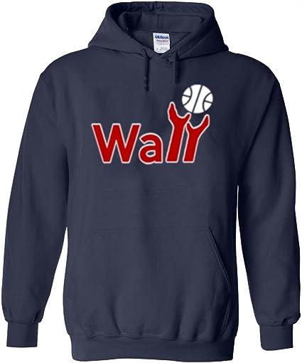 """NAVY John Wall Washington Wizards /""""Wall Logo/"""" Hooded SWEATSHIRT HOODIE"""