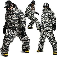 SOUTH PLAY Ski Snowboard Wear Suit Parka Jacket+Pants Trousers SET CAMO