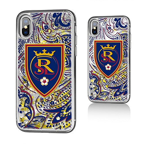 Keyscaper MLS Real Salt Lake Paisley Glitter Case for iPhone X, Clear by Keyscaper