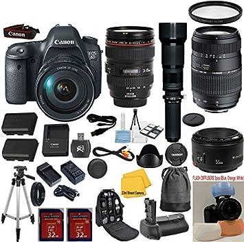 Canon EOS Rebel 6d 20,2 MP CMOS cámara réflex Digital con Lente de ...
