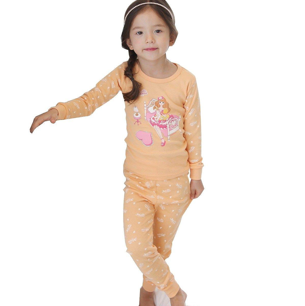 Mimi Toddler Girls Thermal Underwear Sets Pajamas 3-6 Year MyRoom Pattern