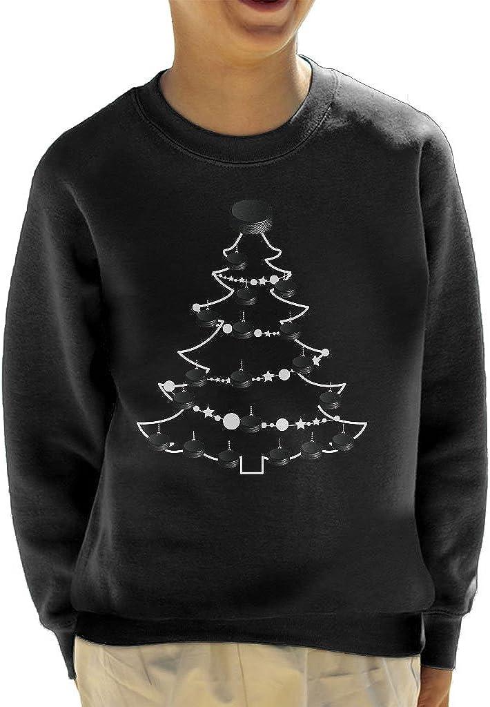 Coto7 Ice Hockey Puck Christmas Tree Baubles Kids Sweatshirt