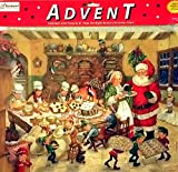 Quality Extra Large Christmas Advent Calendar for Kids Vintage Old Time Santa with Elves and Mrs. Claus Xmas Perfect Holiday Gift Imported {jg} For mom, dad, sister, brother, grandma, friend, gay