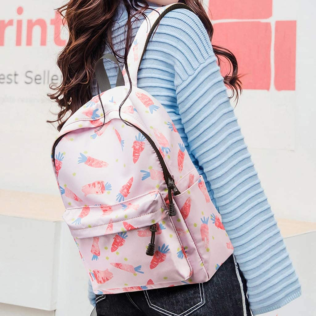 HLJ Fashion Cute Girl Backpack Student Large-Capacity Bag Personality Casual Out Travel Backpack