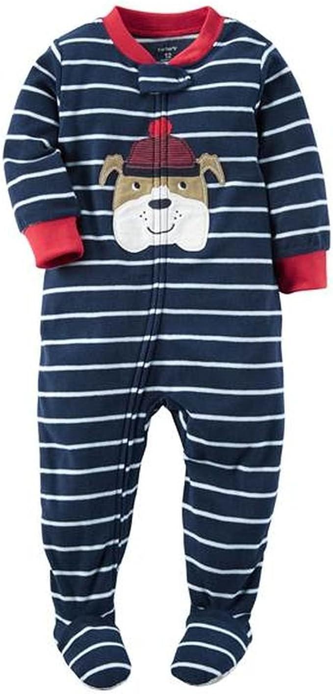 Carter/'s Boys/' Footed Fleece Pajamas Blanket Sleeper Bulldog  4T 5T