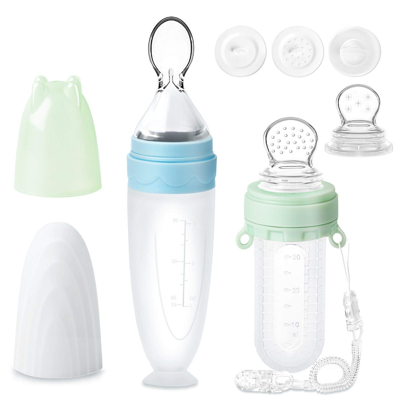 Baby Fütterungs Flasche Squeeze Feeder BPA-frei 90ml