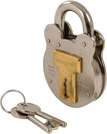 Serrure acier de sac  ancien avec clef