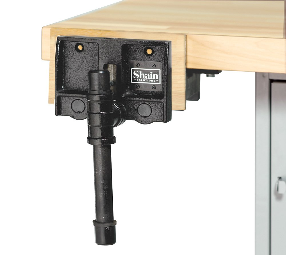 Image of Bench Clamps Diversified Woodcrafts 234708 Shain Custom Vise with Logo, 6' Height, 20' Width, 11' Length, Black