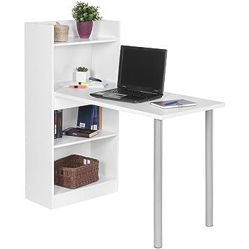 Computertisch modern  FineBuy PC-Schreibtisch modern mit Regal 121,5 x 120 x 70 cm ...