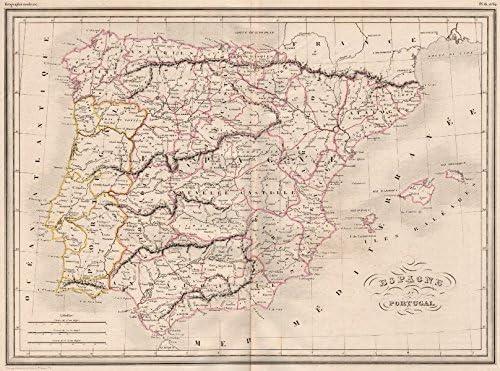 Iberia. Espagne Portugal. España Portugal. Color Original. malte ...