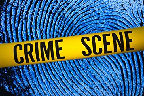 Crime Scene Tape Fingerprint Background Art Print Mural Giant Poster 54x36 inch