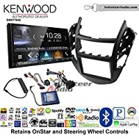 Volunteer Audio Kenwood DMX7704S Double Din Radio Install Kit with Apple CarPlay Android Auto Bluetooth Fits 2015-2016 Chevrolet Trax