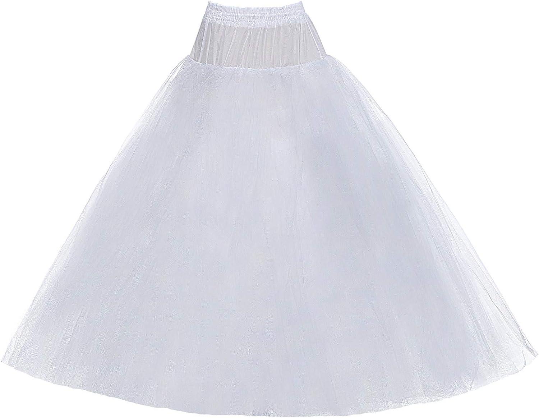 8 Layer White Hoopless Crinoline Petticoat no hoop ball gowns wedding Underskirt