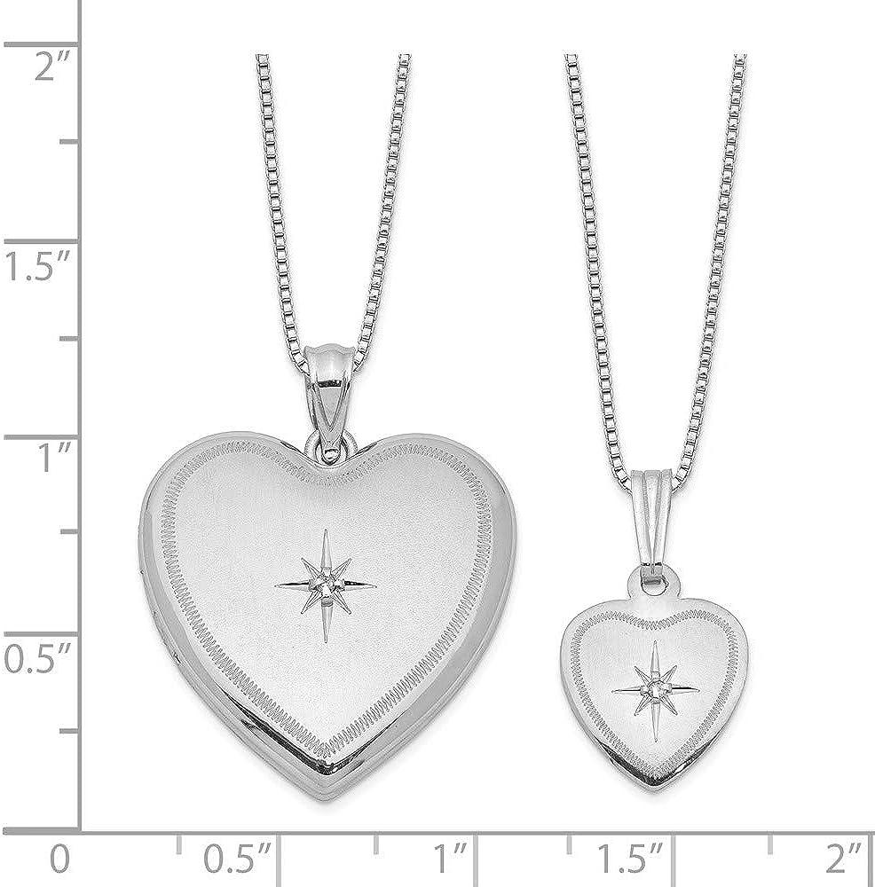 Mia Diamonds 14k Gold Rhodium-plated Infinity Heart Pendant