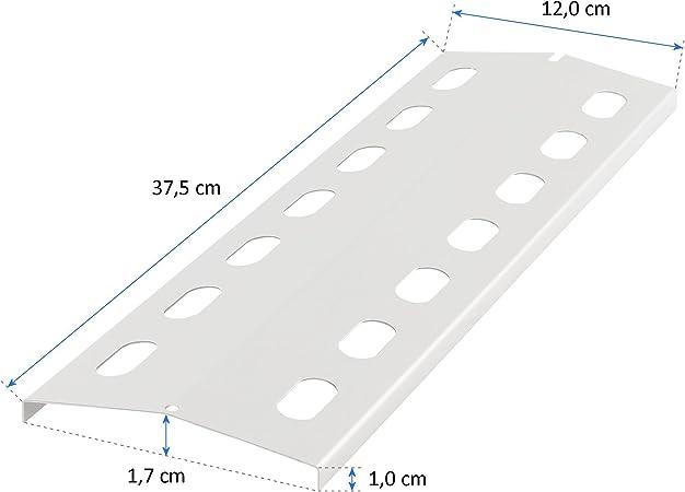 BRUCIATORE in acciaio inox coperchi lamiere fiamme 37,5 x 12 cm fiamme di distribuzione