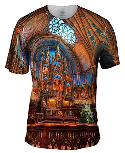 - Yizzam- Notre Dame Cathedral Indoors -TShirt- Mens Shirt-Medium