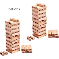 Happy GiftMart Set of 2 51 Pcs Challenging Maths Jenga for Adults and Kids. Make Maths Fun for Kids or Have Party Fun