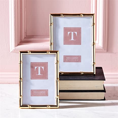 Amazoncom Twos Company S2 Rose Gold Photo Frames In 4 X 6 And