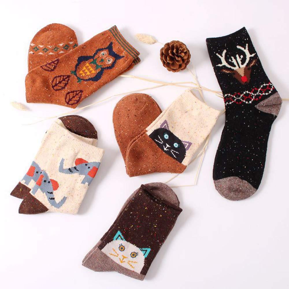 GzxtLTX Socks Wood Cartoon Animal Printed Crew Socks Holiday Design Soft Fun Colorful Festive Fancy Christmas Gifts