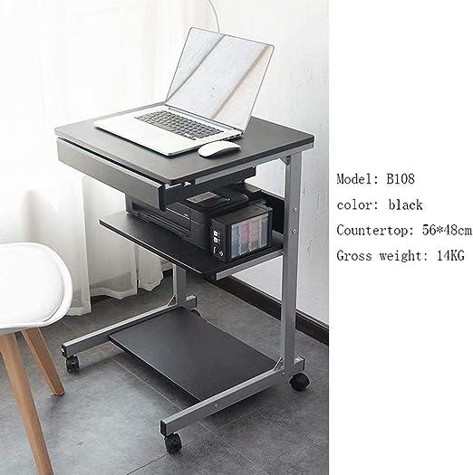 JXCBZ Mesas sobre la Cama Escritorio para computadora portátil ...