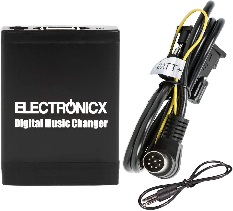 USB SD SDHC MP3 AUX In Interface CD Wechsler Adapter f/ür Radio