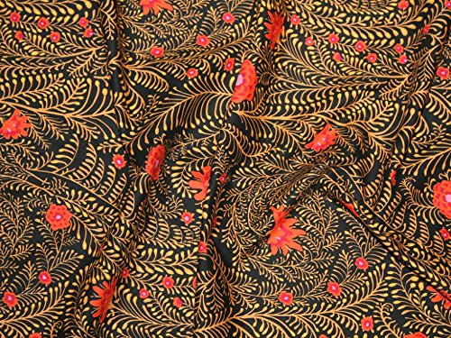 Rowan Kaffe Fassett Spring 2015 Ferns Poplin Quilting Fabric Black - per fat quarter (Rowan Quilting Fabric)