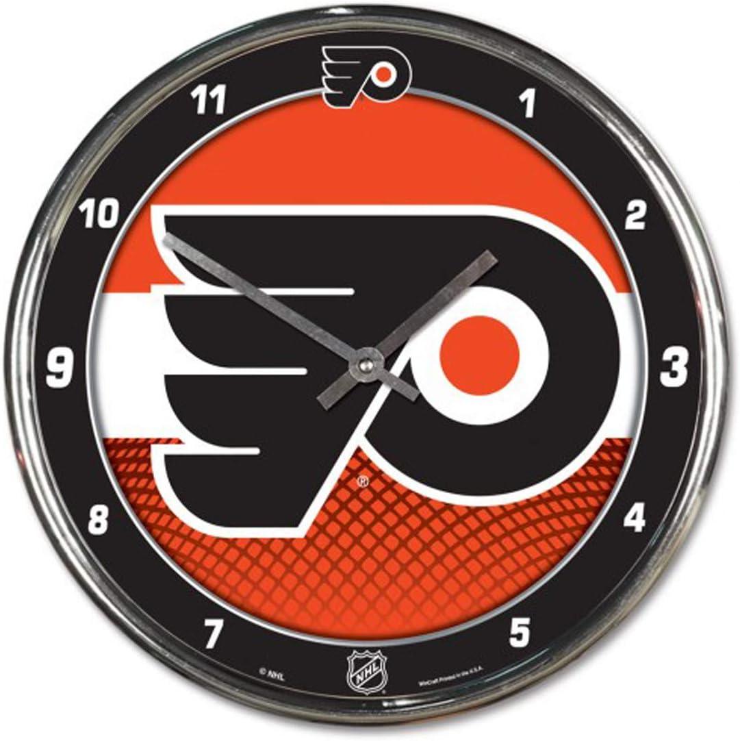 Philadelphia Flyers 12 inch Round Wall Clock Chrome Plated