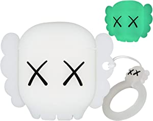 for Airpods Case Cover with Luminous, Cute Cartoon Funny Anime Case for Airpods, Bsorb Any Light Source and Shine in The Dark, Soft Silicone Case Compatible with Airpods 1/2