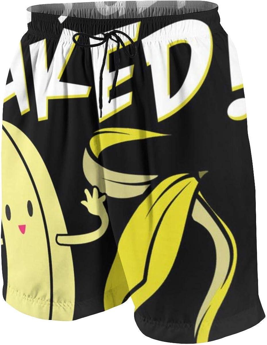 Boys Teens Beach Shorts Swim Trunks Banana Food Boardshorts with Pockets