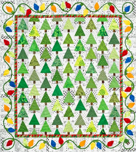 Anderson Quilt - Holiday Lights Quilt Pattern By Alex Anderson