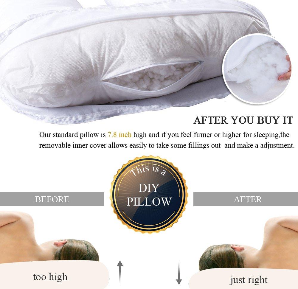 Amazon.com: Queen Rose único en forma de U almohada de apoyo ...