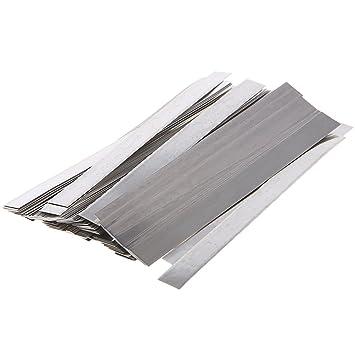 Dabixx 100pc 0.15x8x100mm Placa de níquel Puro 99.96% Tiras de Tiras Hojas Soldador Equipo: Amazon.es: Hogar
