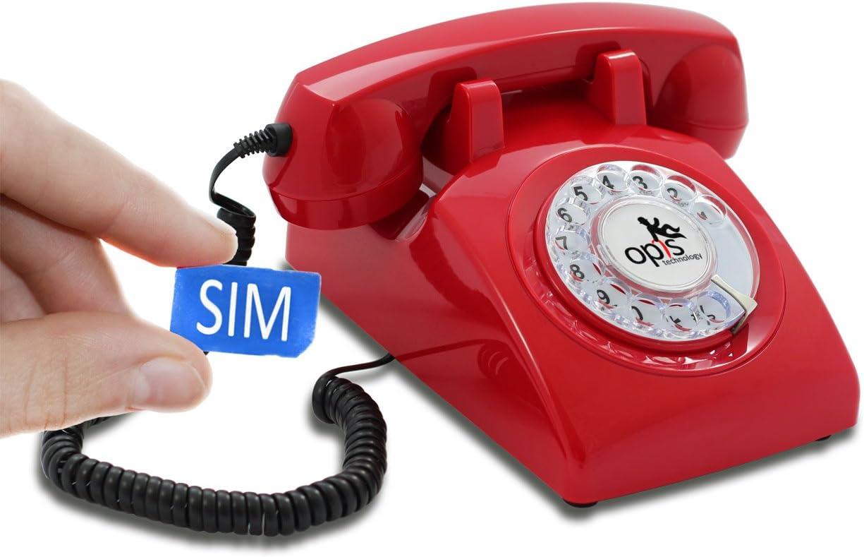 Telefon mit Wählscheibe aus 80er Jahre