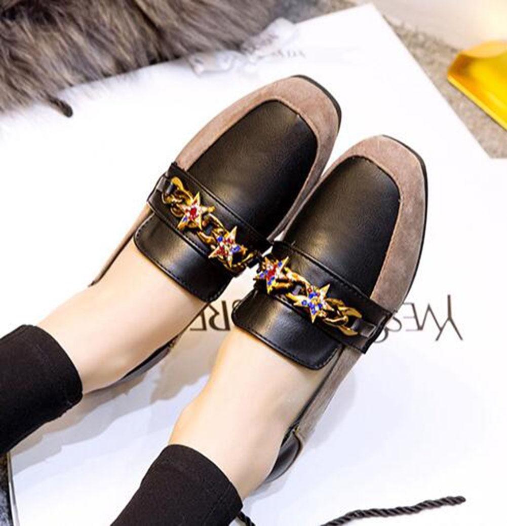 KUKI Zapatos de Carrefour, zapatos planos de mujer zapatos de gamuza diamante informal , 3 , US5.5 / EU35 / UK3.5 / CN35: Amazon.es: Deportes y aire libre