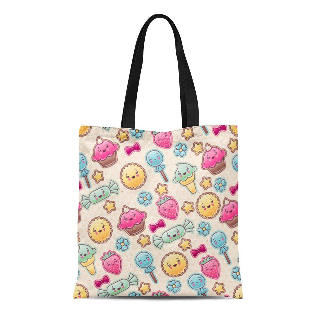f2ee61d54761 Amazon.com: Semtomn Cotton Canvas Tote Bag Life Is Journey Enjoy the ...