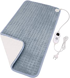 "Diwenhouse Heating Pad for Fast Pain Relief - Electric Heating Pads Back Pain with 4 Auto Shut Off for Neck/Shoulders/Knee/Feet, 3 Heat Options - Hot Heated Pad(12""x24"" Charcoal Grey)"