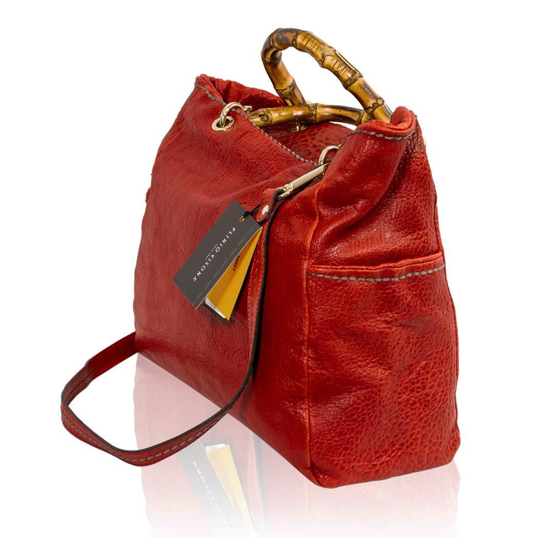 a7443c1f3f1 Plinio Visona Italian Designer Red Leather Large Crossbody Bag w ...