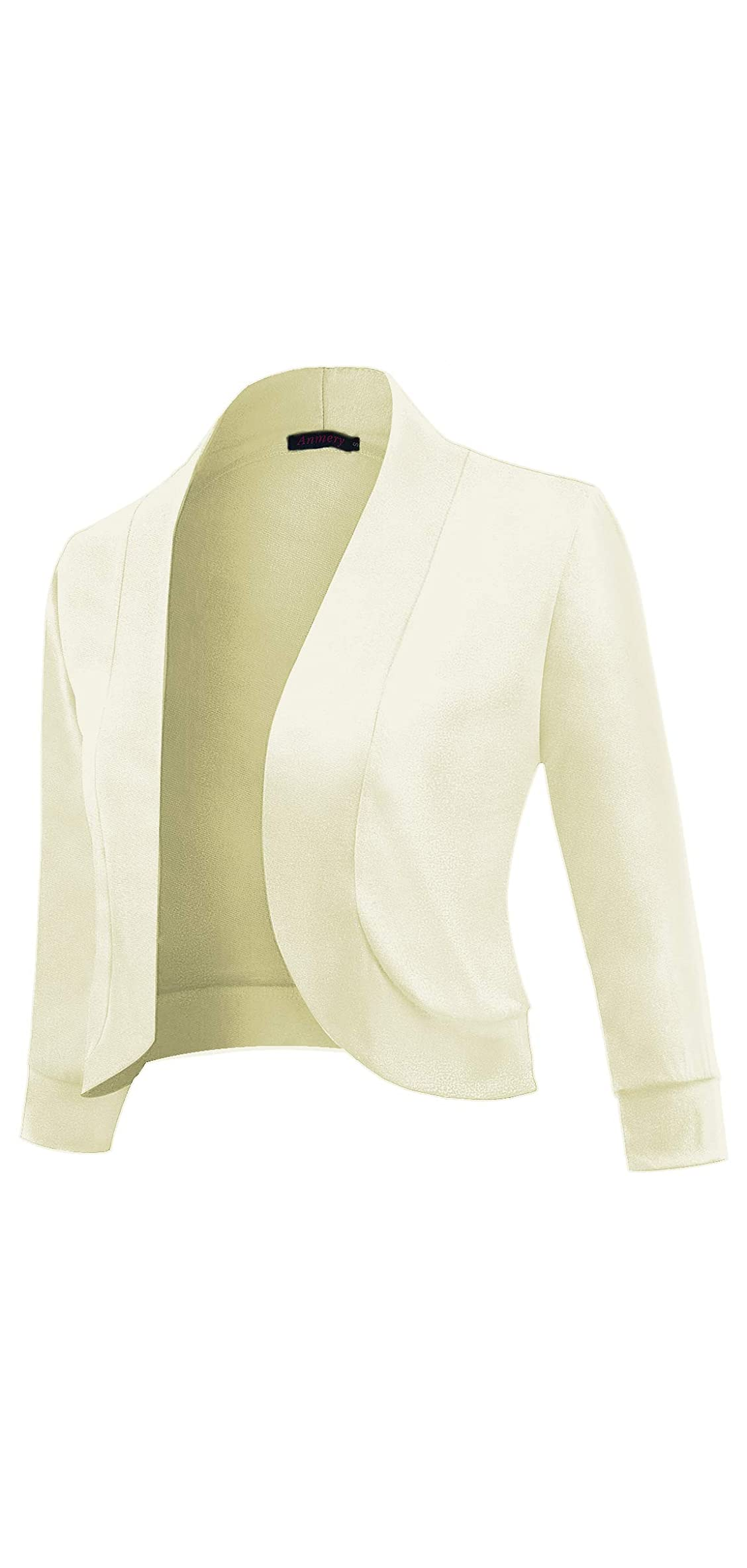 Womens / Sleeve Short Cardigan Slim Fitted Cropped Open