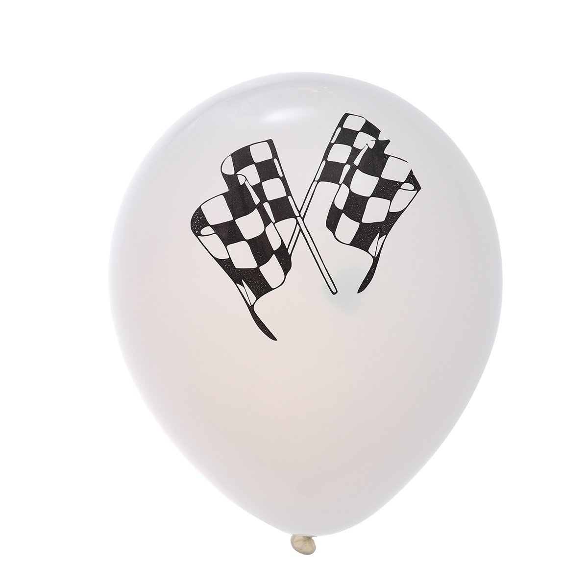 TOYMYTOY 10pcs Racing Balloons Checkered Flags Biodegradable Latex Balloons Party Favor for Race Car Themed Party