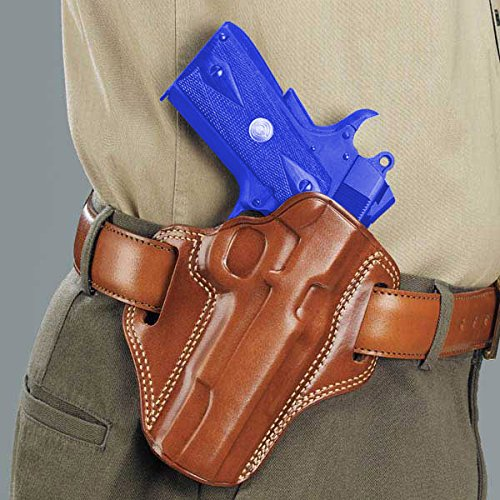 Galco Gunleather CM212 Combat Master Belt Holster for 1911 5-Inch Colt, Kimber, Para, Springfield (Tan, Right-hand)