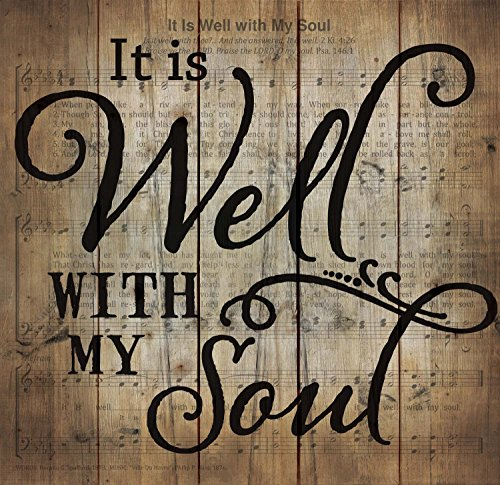 It Is Well With My Soul Sheet Music Design 24 x 25 Wood Pallet Wall Art Sign Plaque