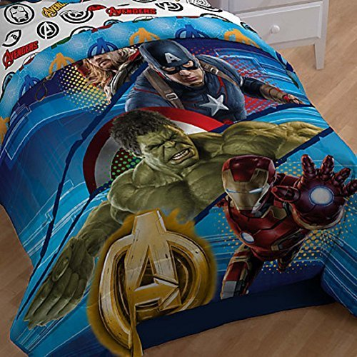 Disney Marvel Avengers 2 Age of Ultron Reversible Comforter, Twin