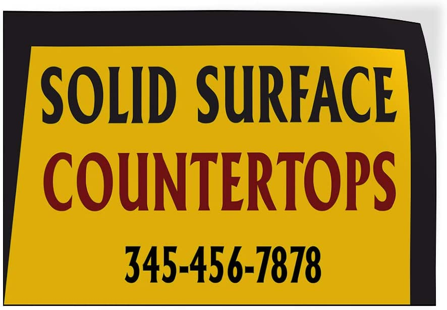 Custom Door Decals Vinyl Stickers Multiple Sizes Solid Surface Countertops Phone Number Business Countertops Outdoor Luggage /& Bumper Stickers for Cars Yellow 58X38Inches 1 Sticker