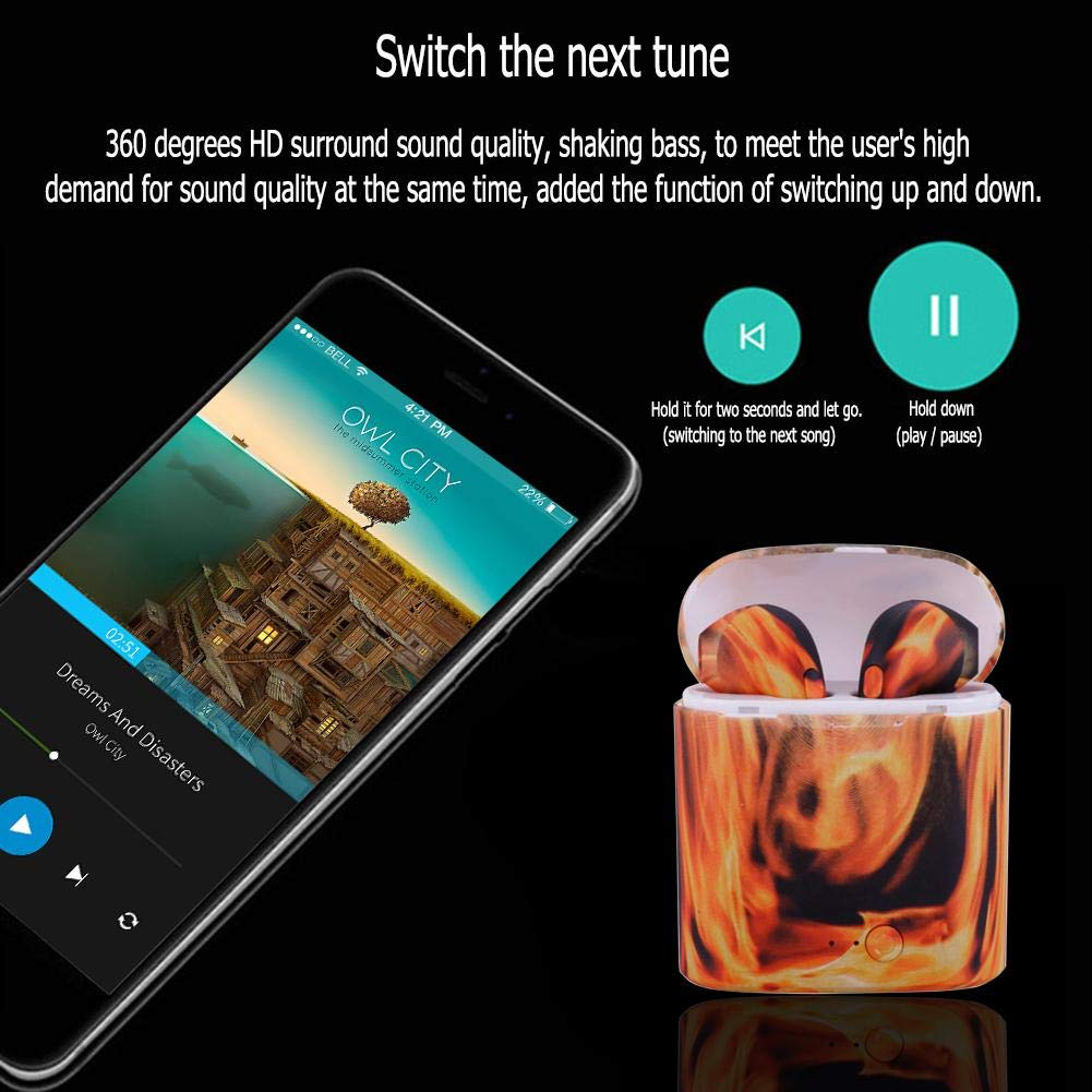 52e7c4e4f0a Litterprince i7s Painted TWS Stereo Earphones Wireless: Amazon.in:  Electronics