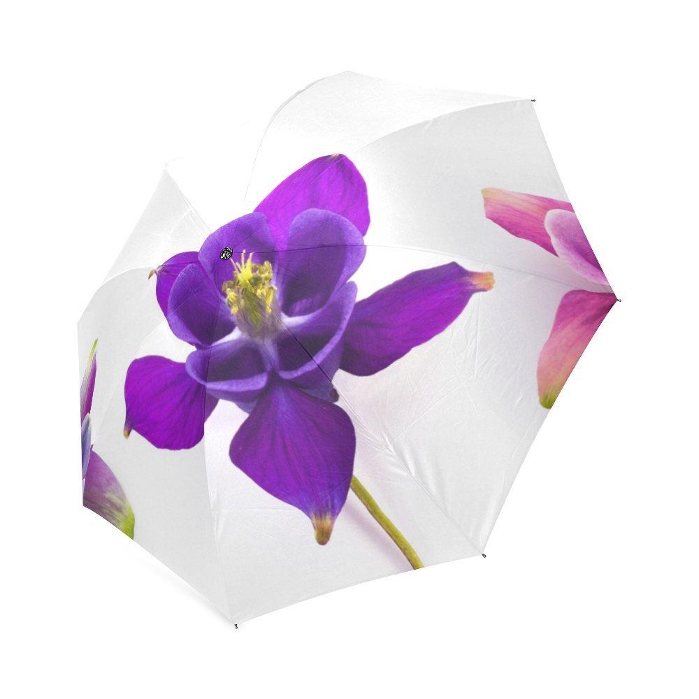 Durable modeling personalized columbine flowers sun rain travel durable modeling personalized columbine flowers sun rain travel umbrella waterproof izmirmasajfo
