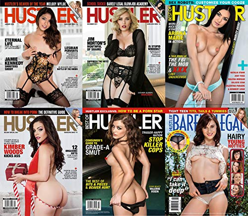 Lot of Six (6) Adult Magazines and 6 DVD - Hustler, Club, Cheri and more